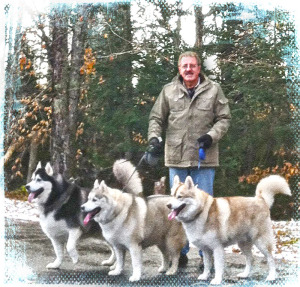 Raymond Shea with Dogs
